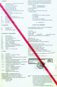 Certificat de conformité européen ( C.O.C) Alfa romeo