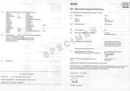 Certificat de conformité Audi Gratuit