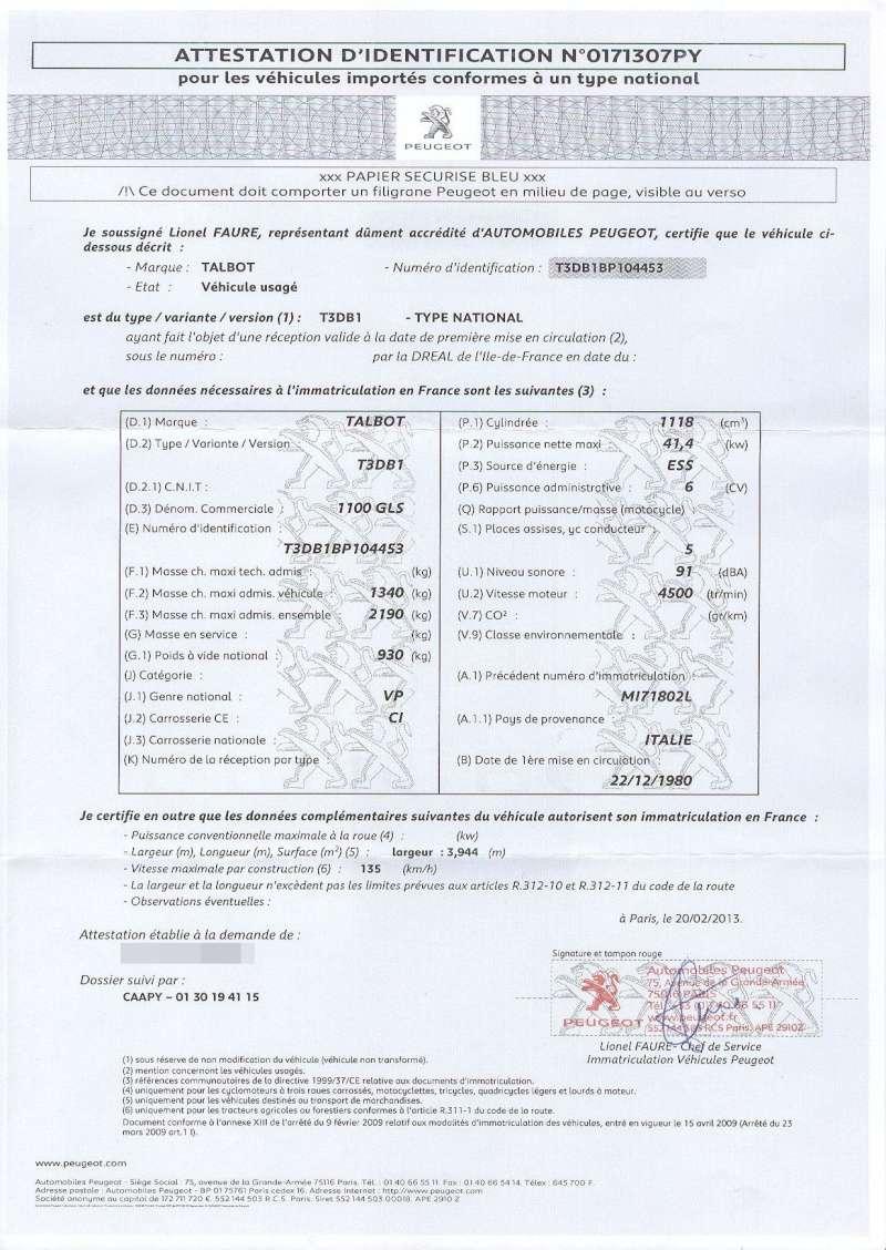 L Original Du Certificat De Conformité Européen Délivré Par