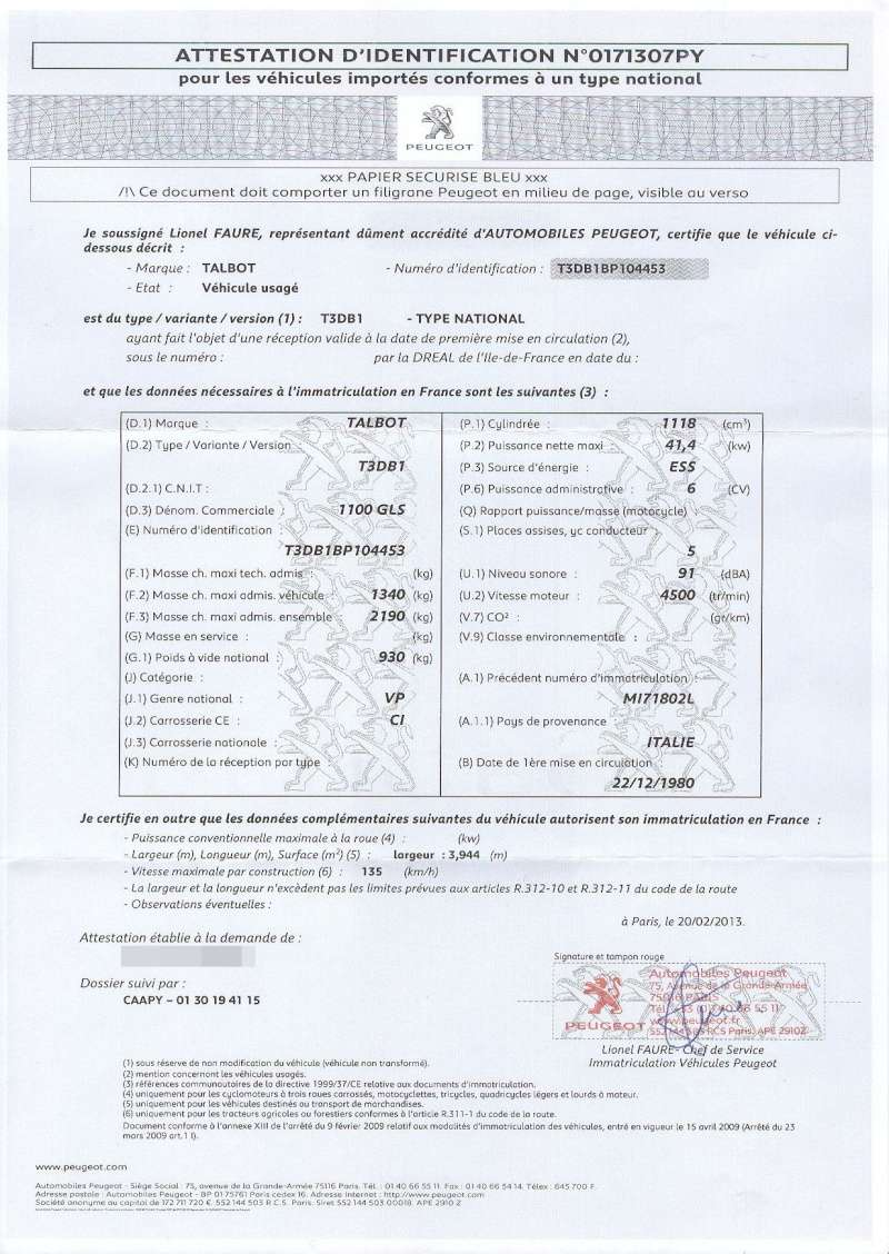 certificat de conformit citroen certificat de conformit europ en citroen. Black Bedroom Furniture Sets. Home Design Ideas