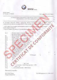 Certificat de conformité électronique Bmw (e-CoC Bmw)
