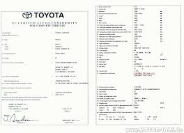 certificat de conformit toyota coc toyota certificat de conformit europ en toyota euro. Black Bedroom Furniture Sets. Home Design Ideas