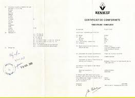 Immatriculation véhicule Renault : le certificat de conformité européen Renault