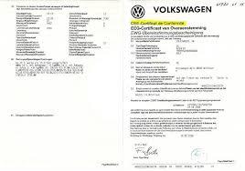 Immatriculation véhicule Volkswagen : le certificat de conformité européen Volkswagen