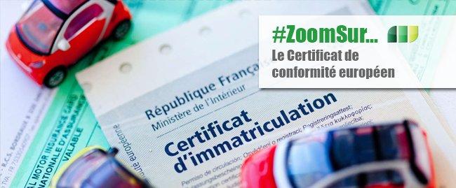 Le Certificat de Conformité Européen  ou COC