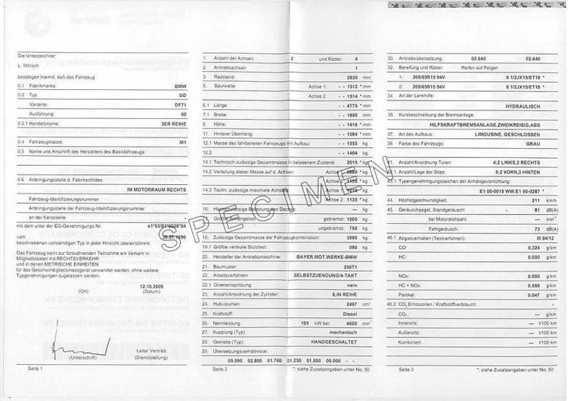 Qu'est-ce qu'un Certificat de Conformité Bmw?