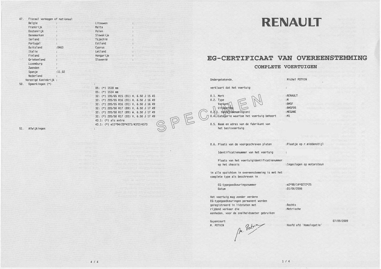 Qu'est-ce qu'un certificat de conformité constructeur ?