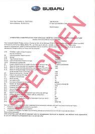 Qu'est-ce qu'un Certificat de Conformité Subaru