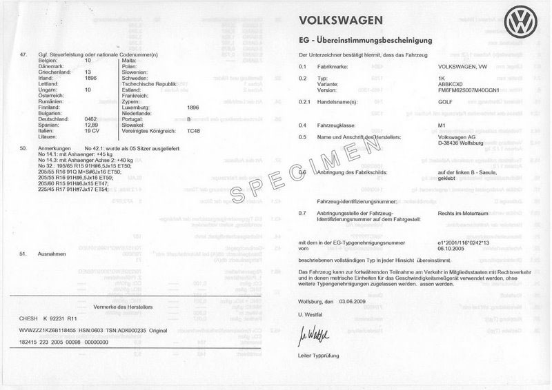 certificat conformit volkswagen coc volkswagen france. Black Bedroom Furniture Sets. Home Design Ideas